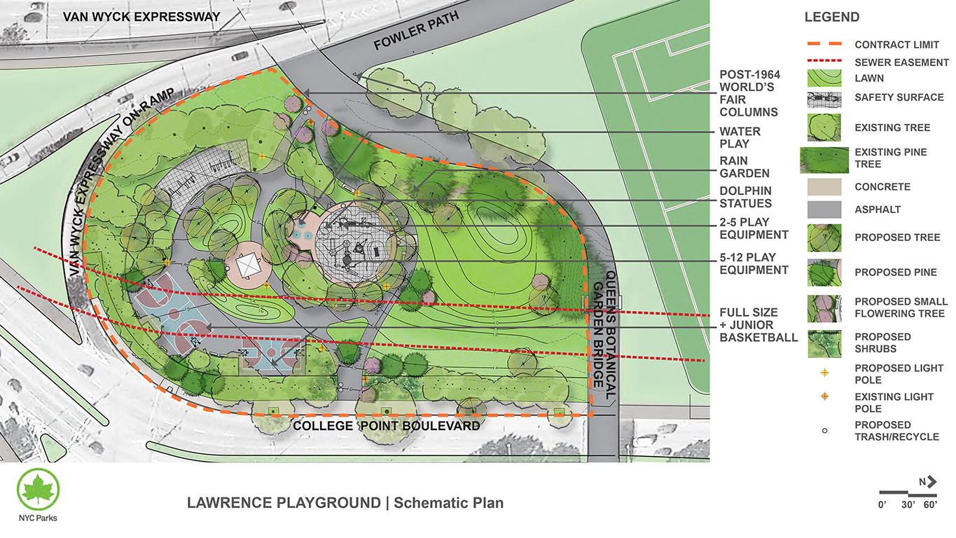 Design of Flushing Meadows Corona Park Lawrence Playground Reconstruction