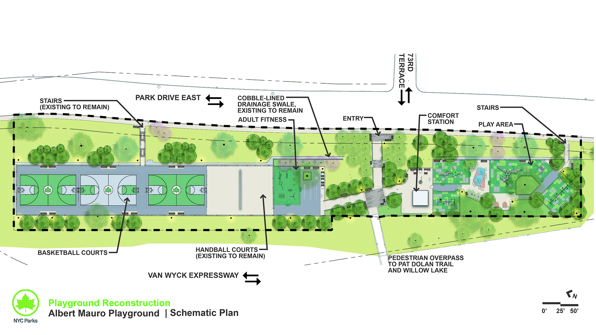 Design of Flushing Meadows Corona Park Mauro Playground Reconstruction