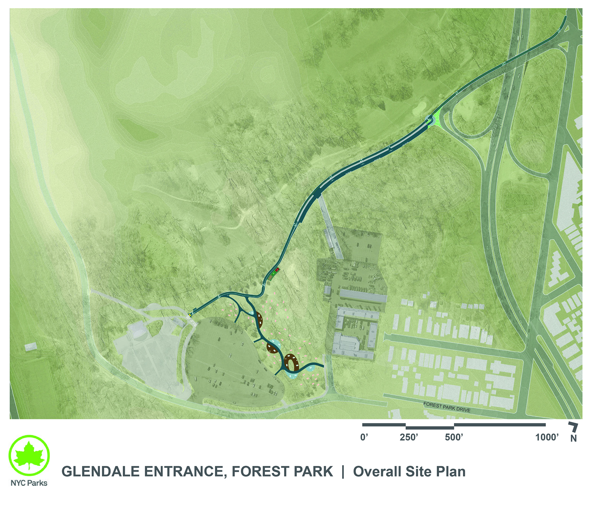 Design of Forest Park Glendale Entrance Construction
