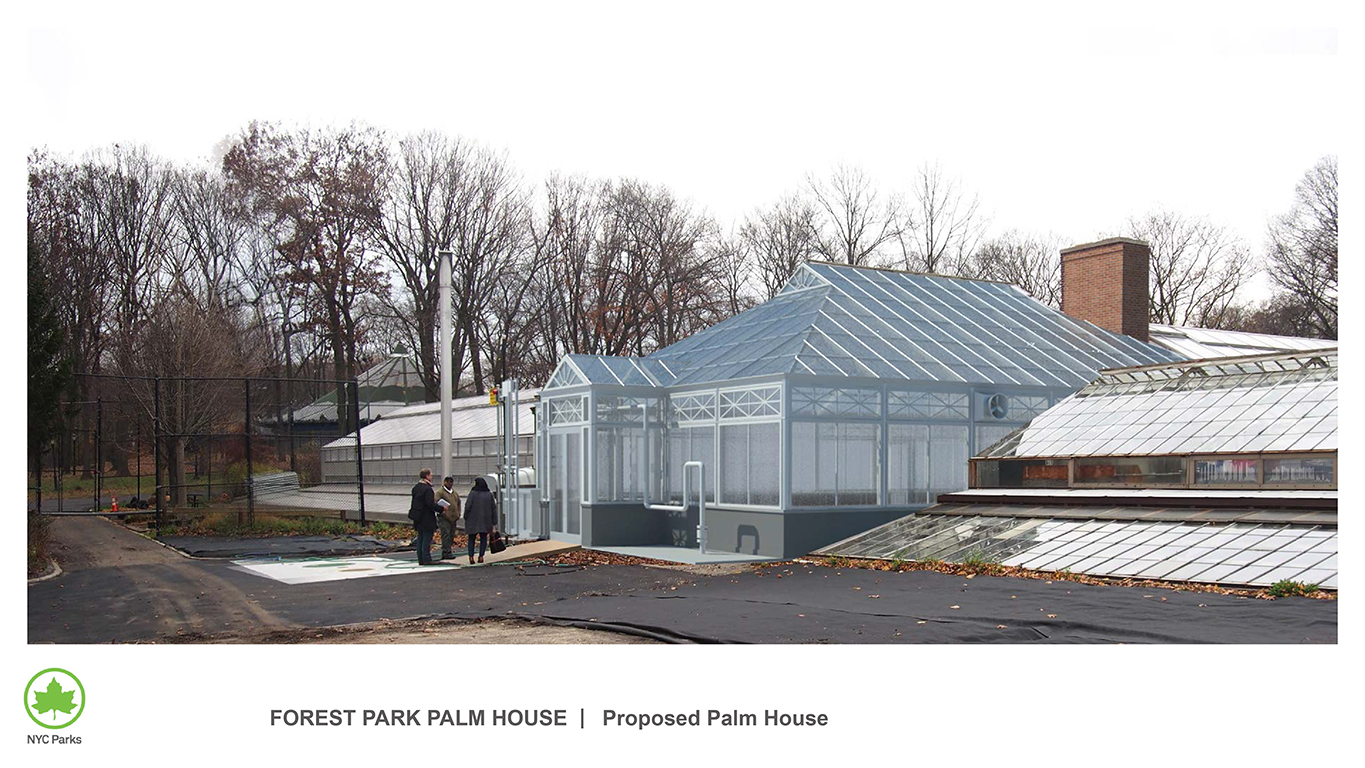 Design of Forest Park Greenhouse Palm House Reconstruction