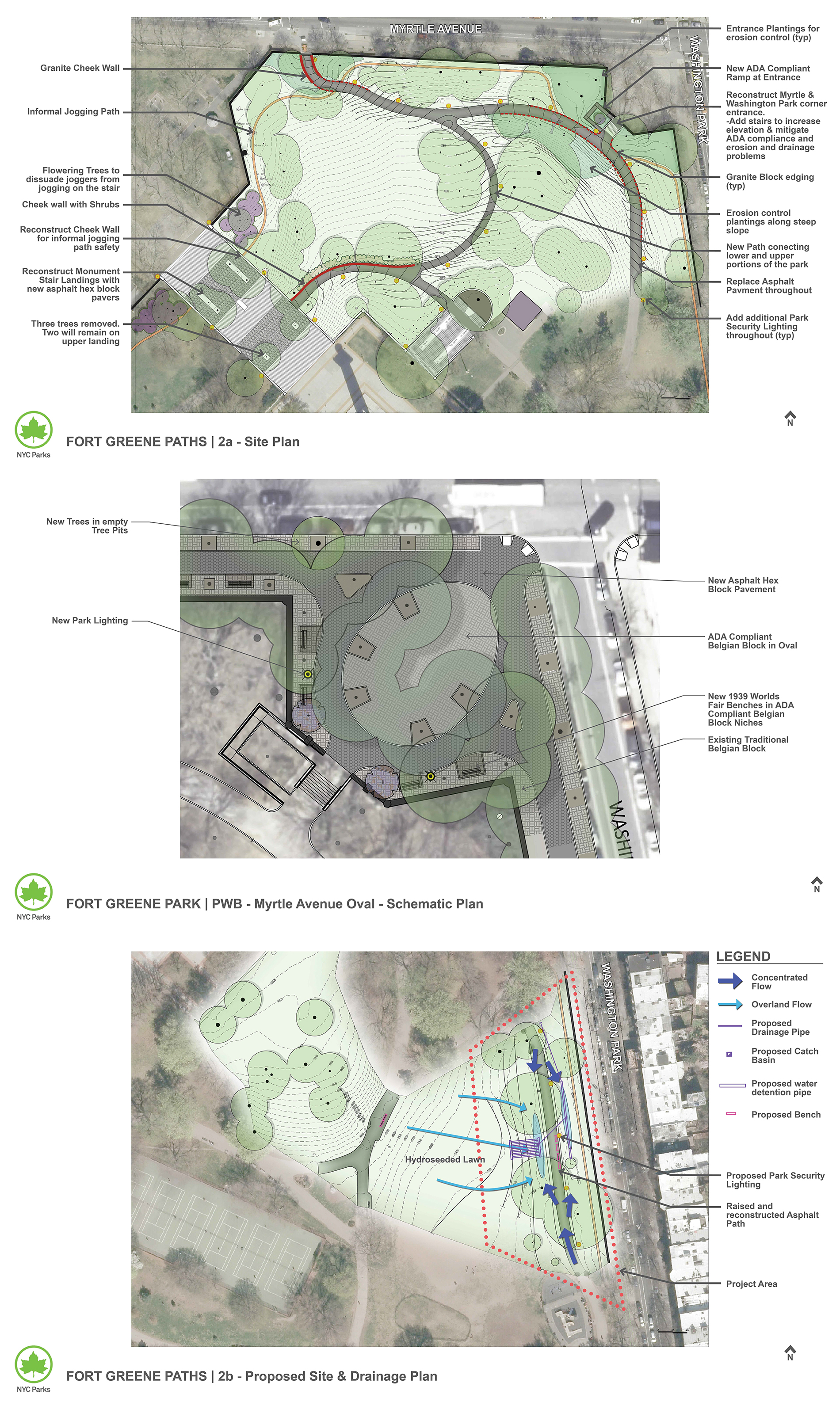 Design of Fort Greene Park Entrance Reconstruction and Drainage Improvements