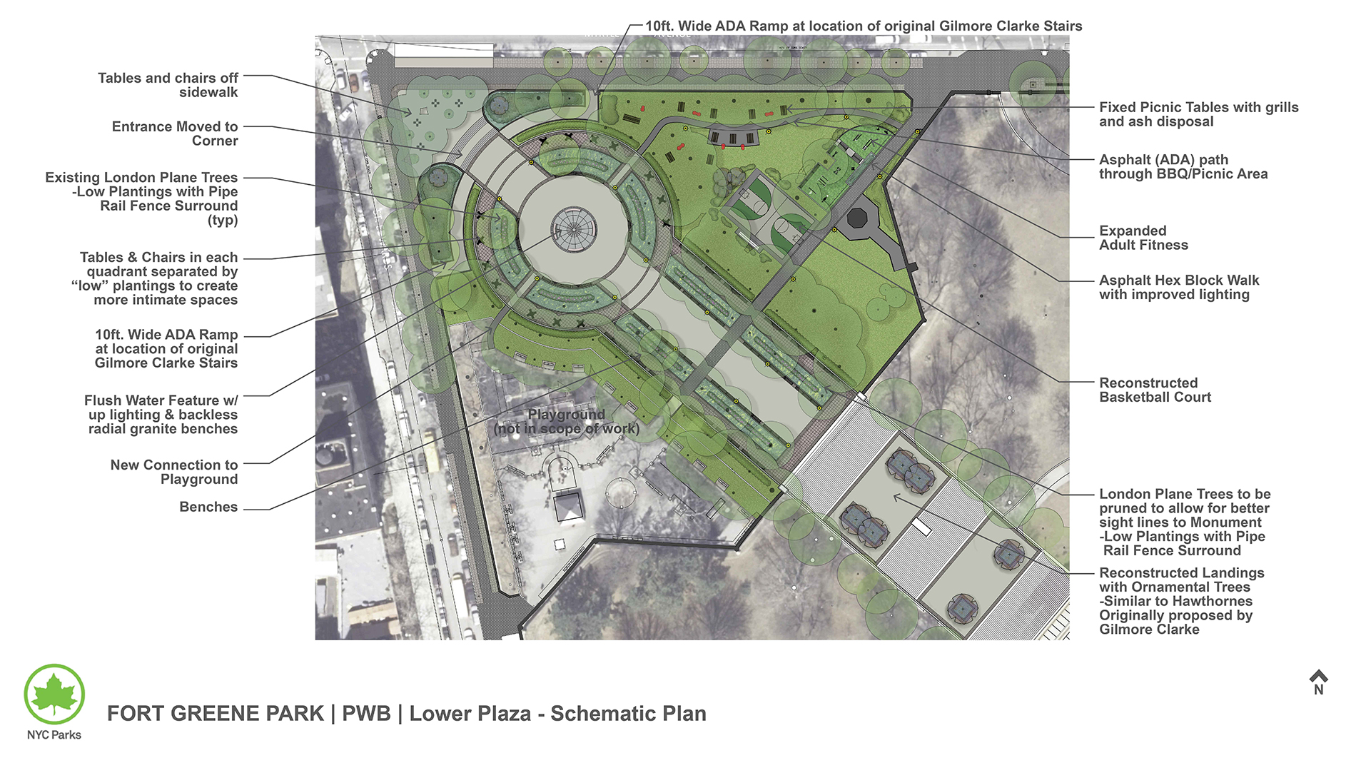 Design of Fort Greene Park Plaza and Pavement Reconstruction
