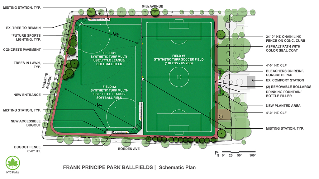 Design of Frank Principe Park Ballfields Reconstruction