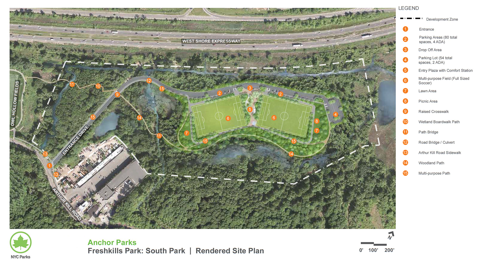 Design of Freshkills South Park Synthetic Turf Fields and Landscape Construction