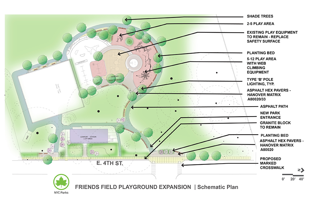 Design of Friends Field Park Playground Expansion