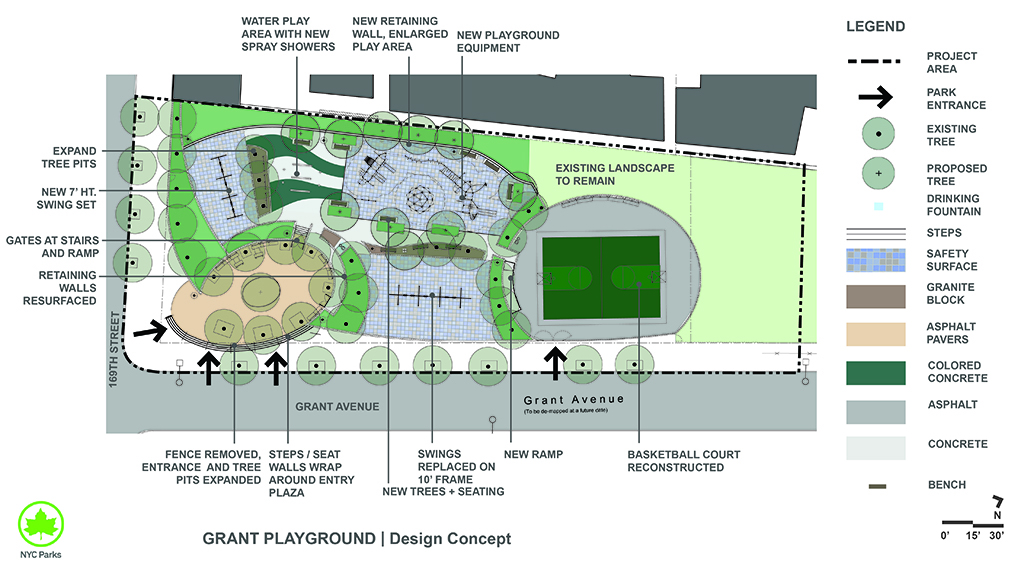 Design of Grant Avenue Park Playground and Basketball Court Reconstruction
