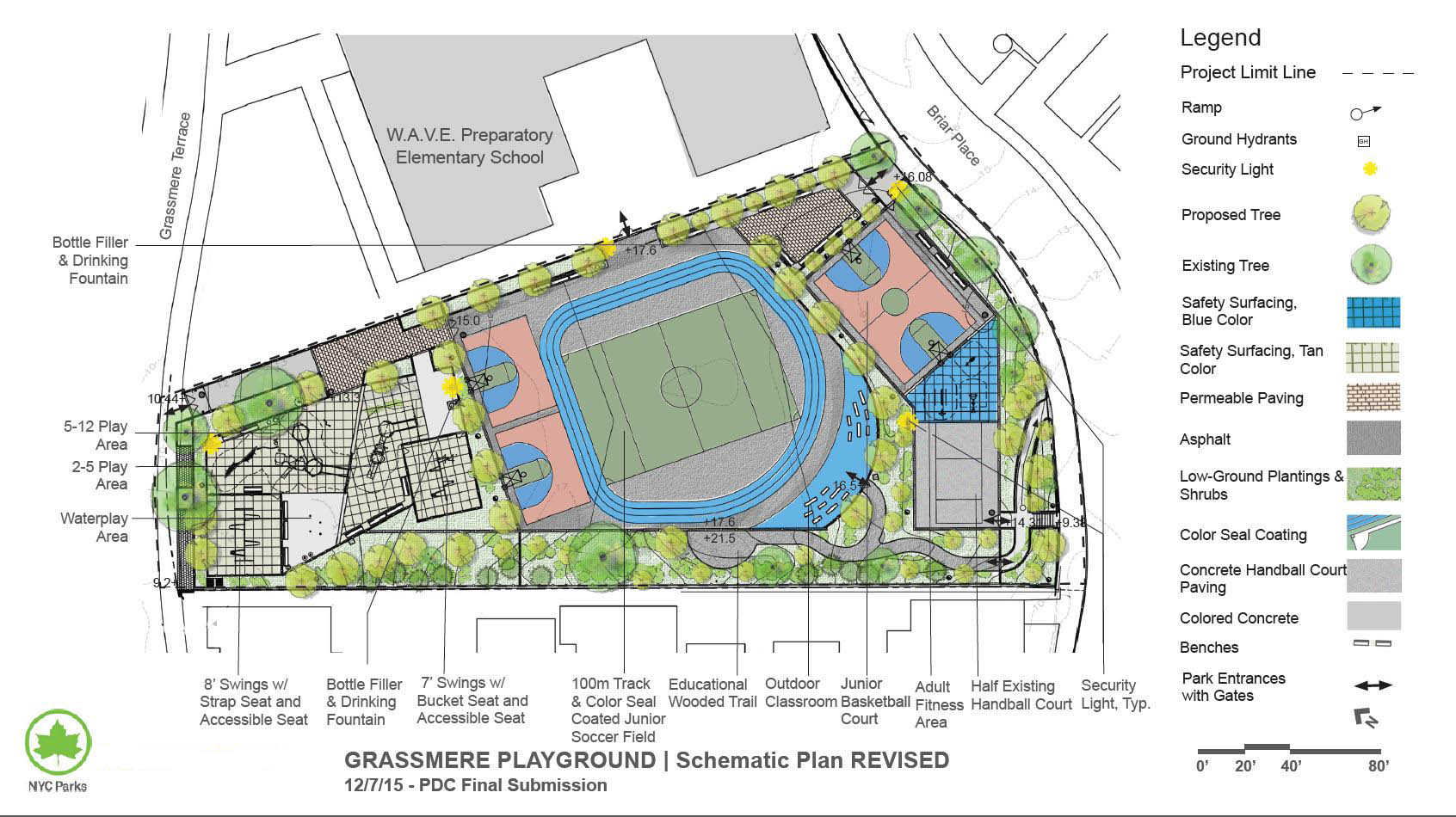Design of Grassmere Playground Reconstruction