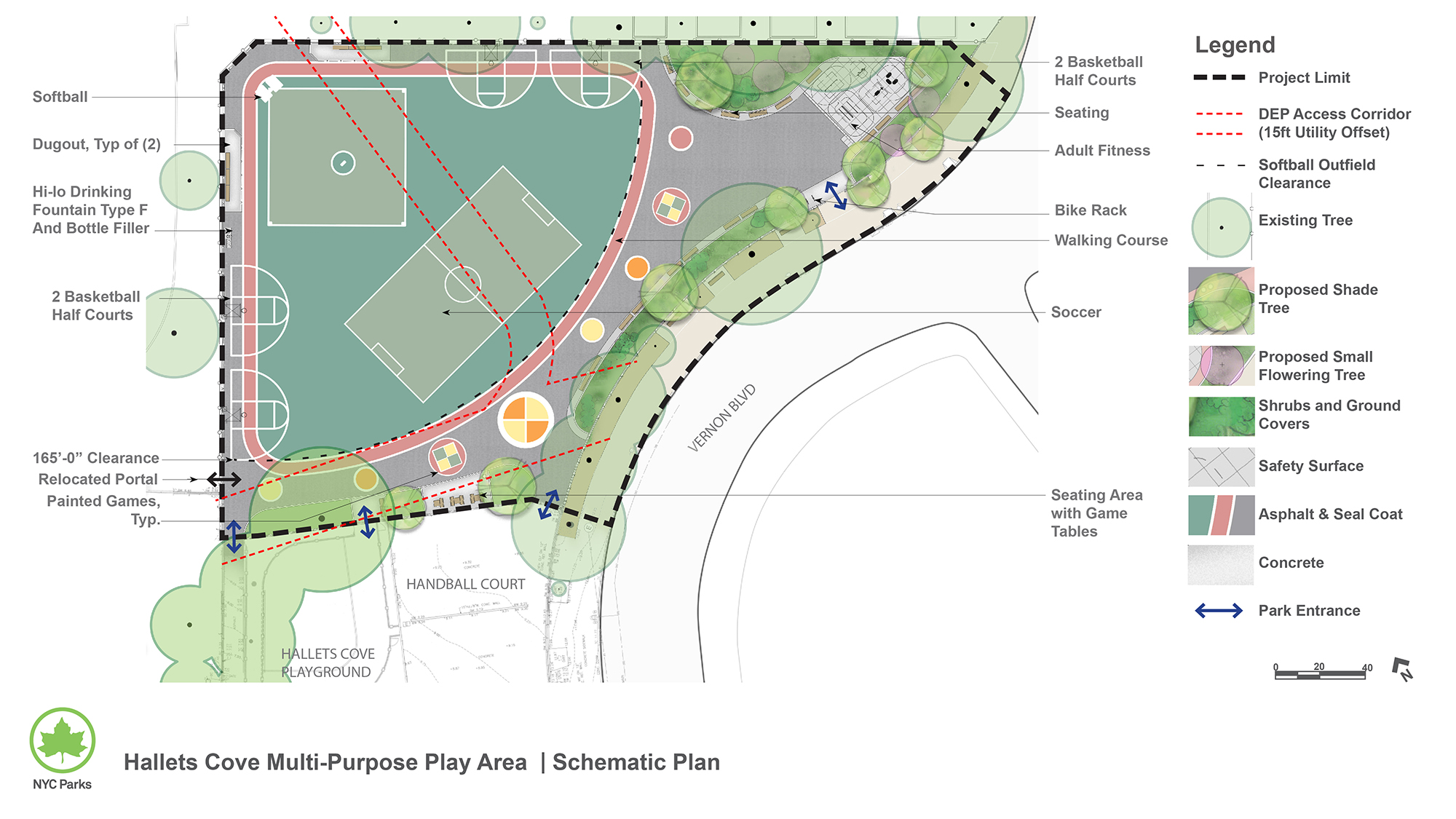 Design of Hallets Cove Playground Multi Purpose Play Area Reconstruction