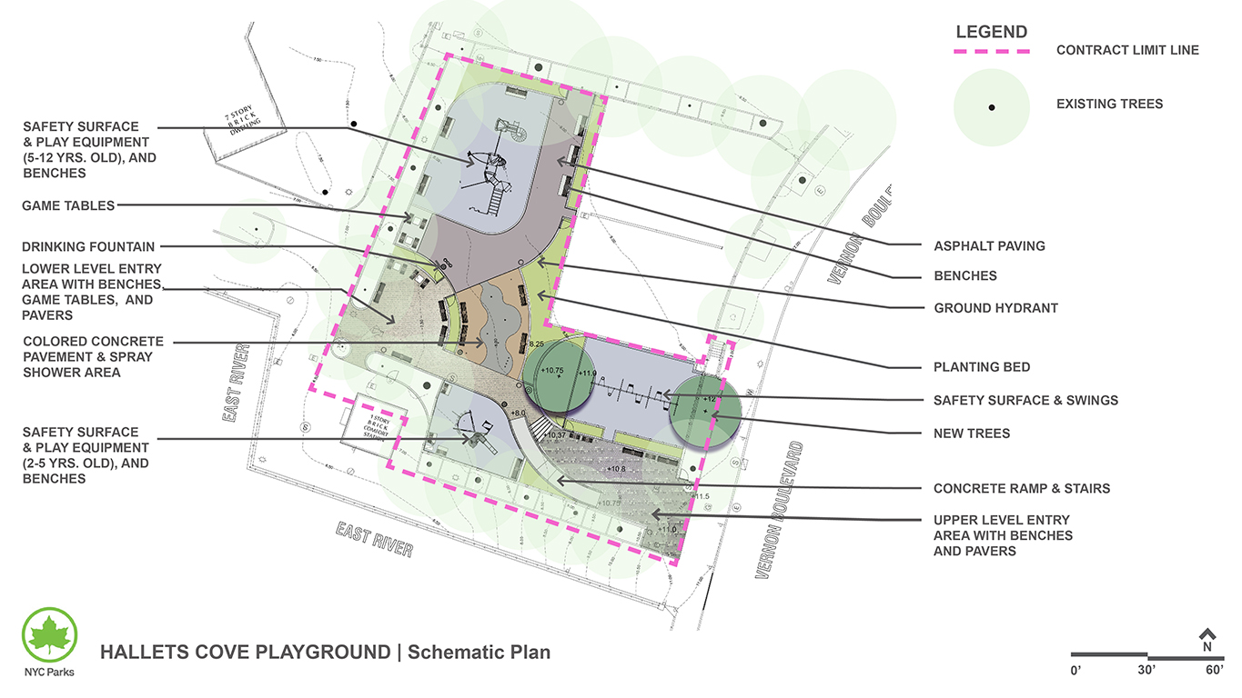 Design of Hallets Cove Playground Reconstruction