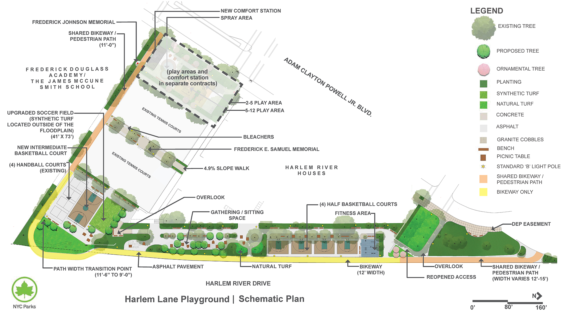 Design of Harlem Lane Playground and Frederick Johnson Playground Sports Courts Reconstruction