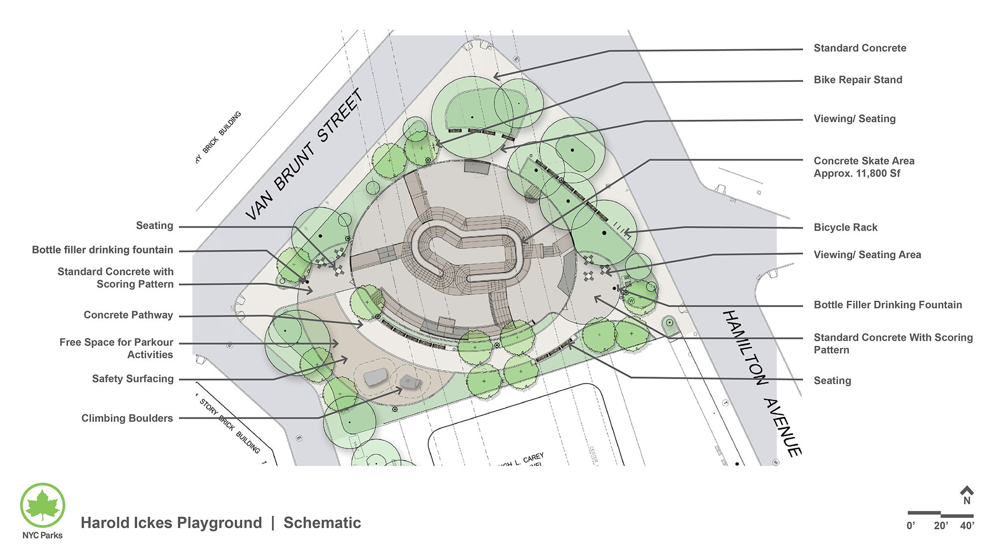 Design of Harold Ickes Playground BMX Bike & Skate Park and Multipurpose Play Area Construction