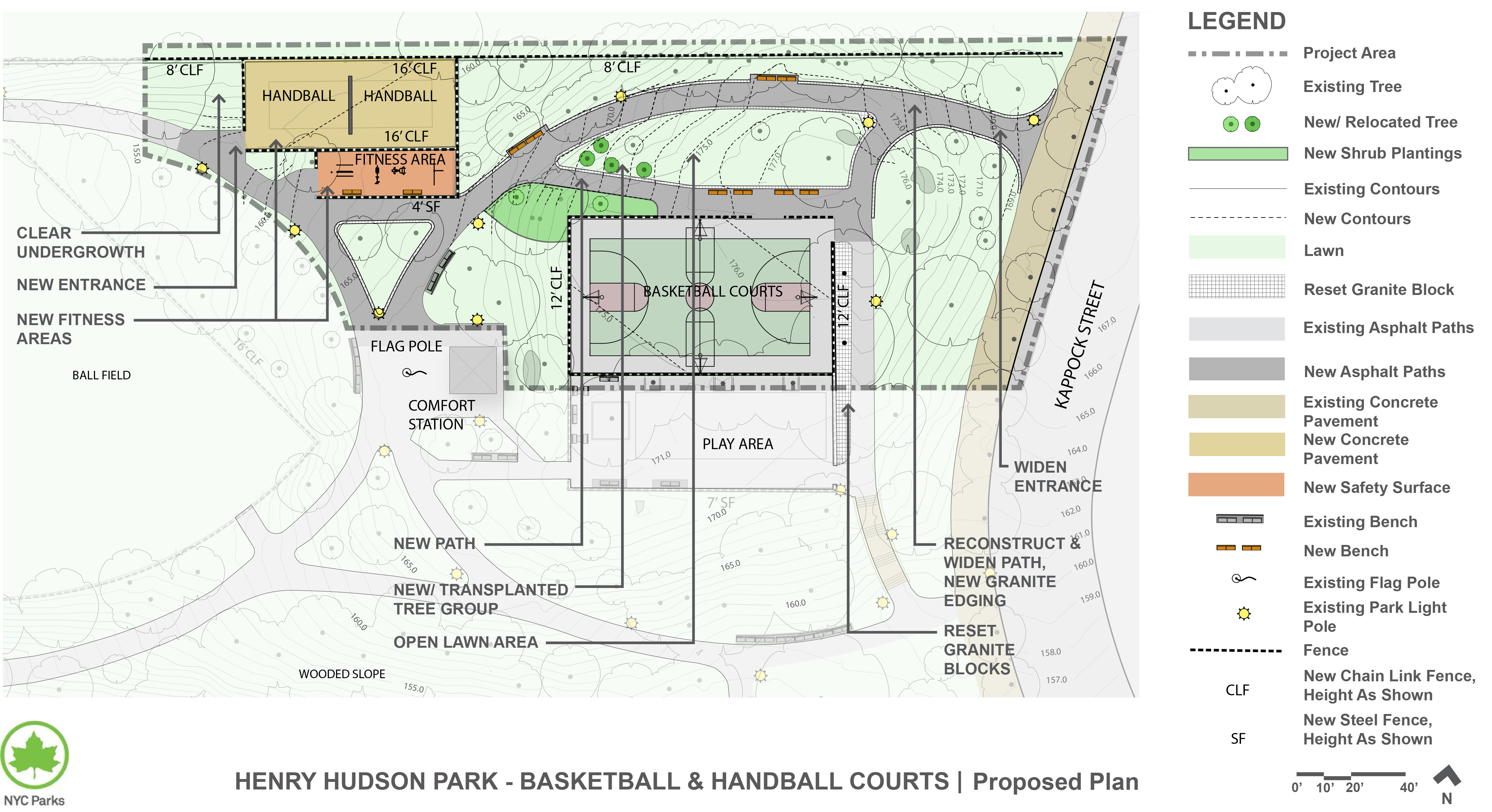 Design of Henry Hudson Park Basketball and Handball Courts Reconstruction