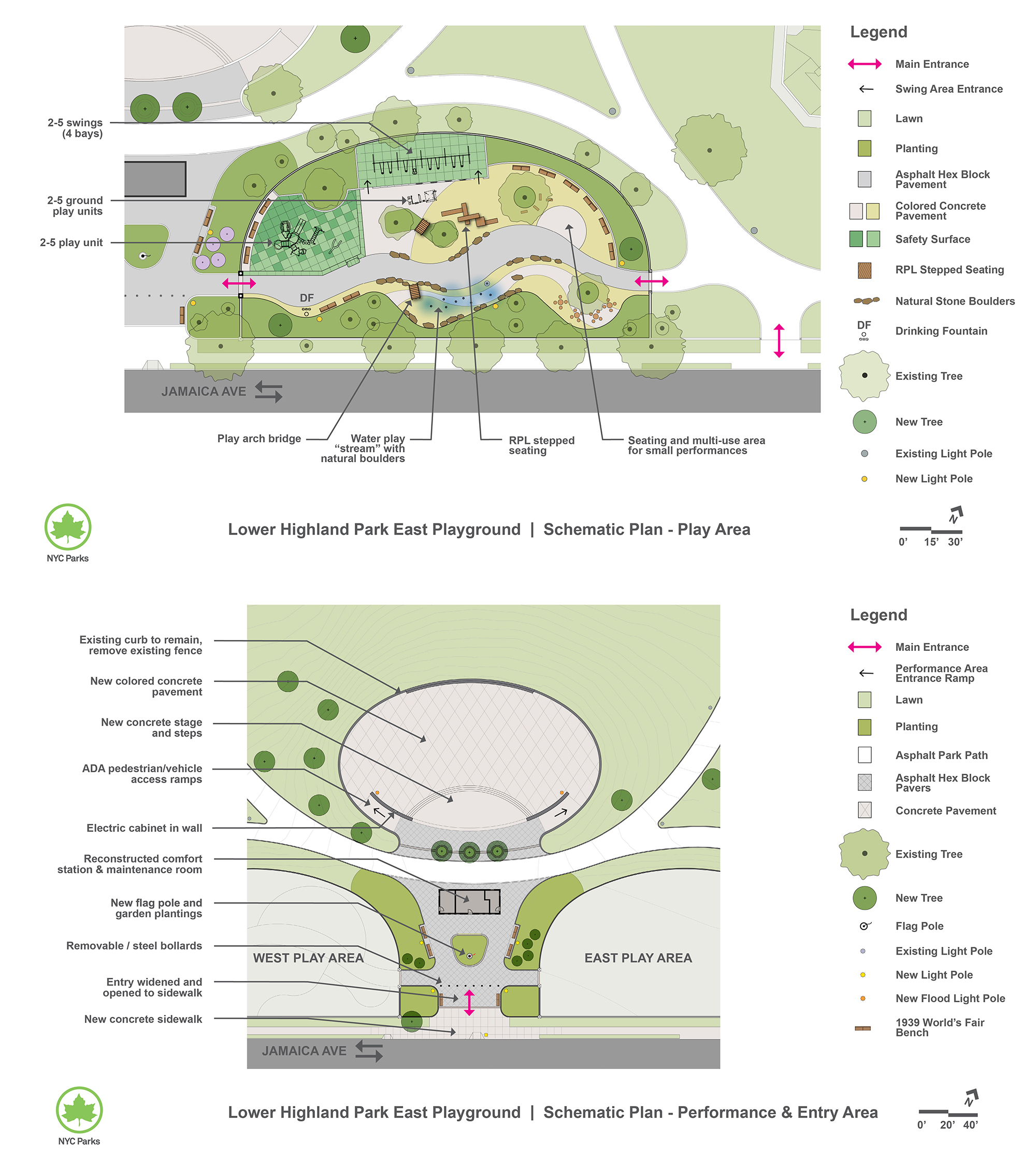 Design of Highland Park Lower East Playground Reconstruction