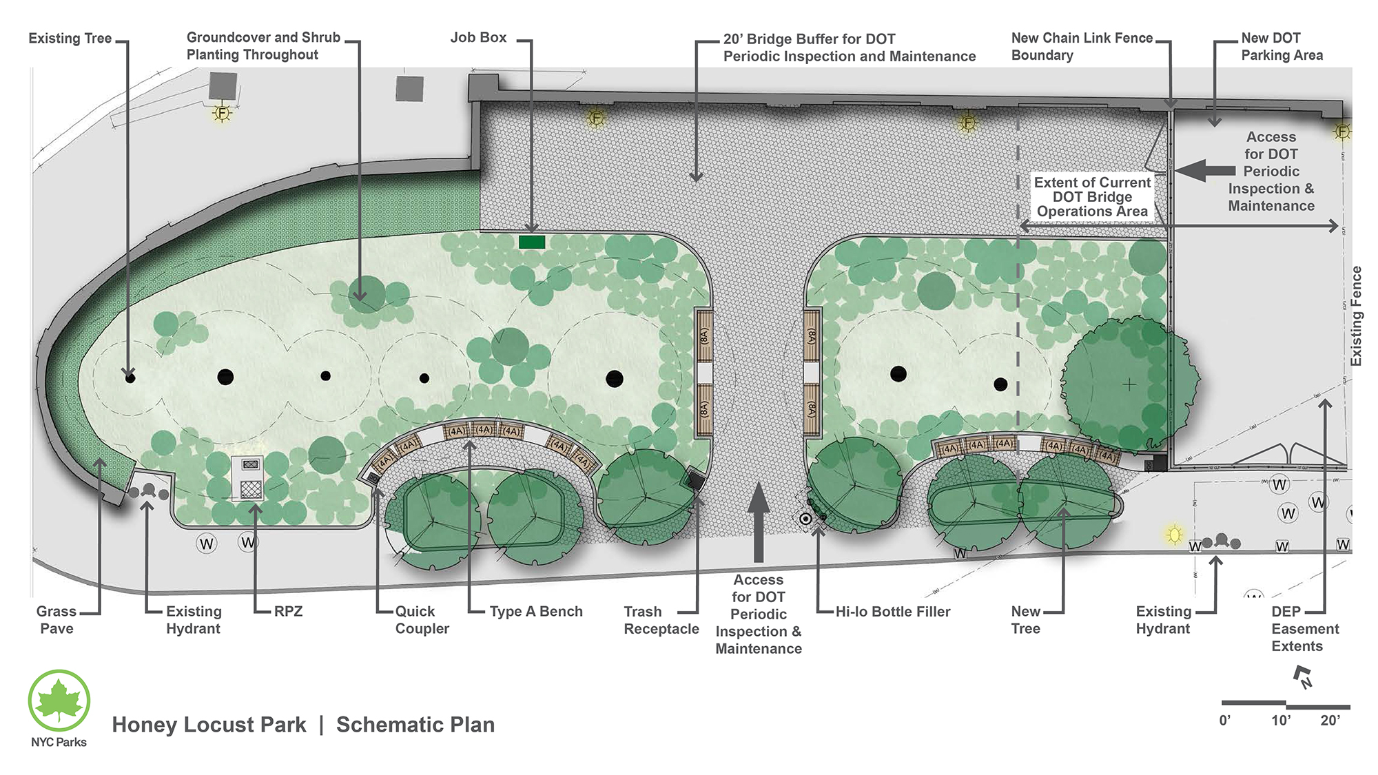 Design of Honey Locust Park Reconstruction