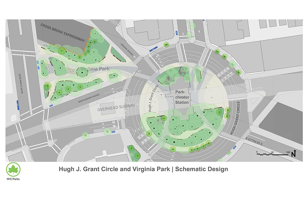 Hugh Grant Circle and Virginia Park Reconstruction : NYC Parks