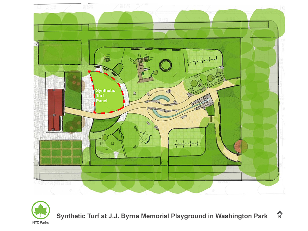 Design of JJ Byrne Park Synthetic Turf Lawn Construction