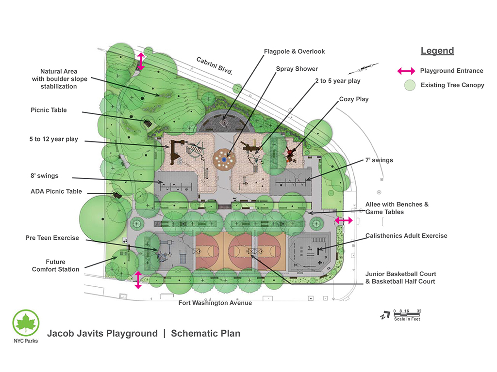 Design of Jacob Javits Playground Reconstruction
