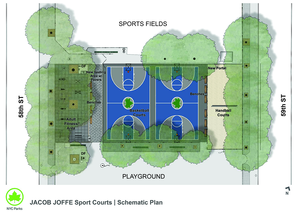 Design of Jacob Joffe Fields Adult Fitness Area Construction and Sport Courts Reconstruction