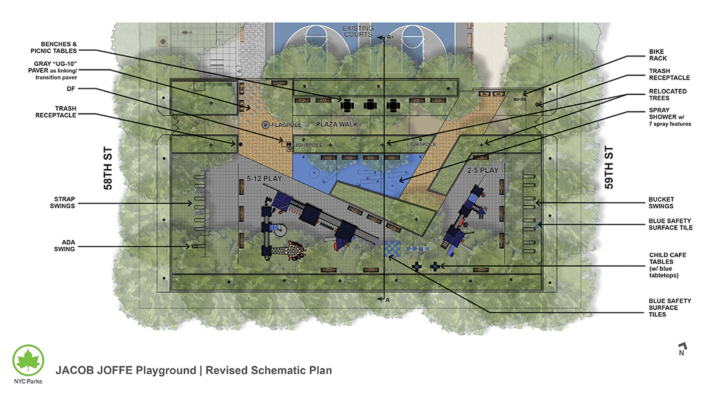 Design of Jacob Joffe Fields Playground Reconstruction