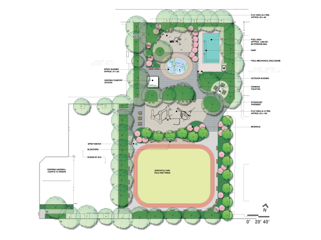 Design of Jesse Owens Playground Reconstruction
