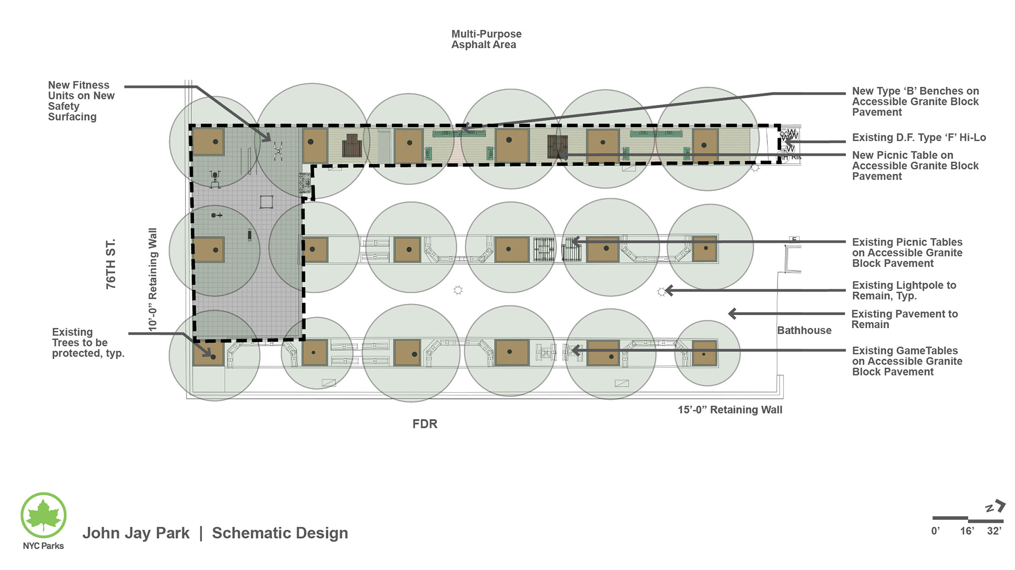 Design of John Jay Park Sitting Area Reconstruction