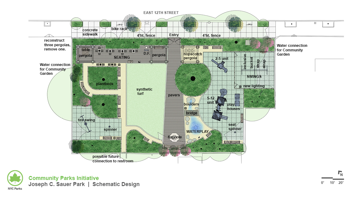 Design of Joseph Sauer Park Reconstruction