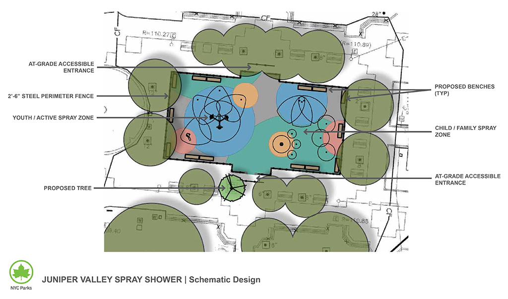 Design of Juniper Valley Park Spray Shower Reconstruction