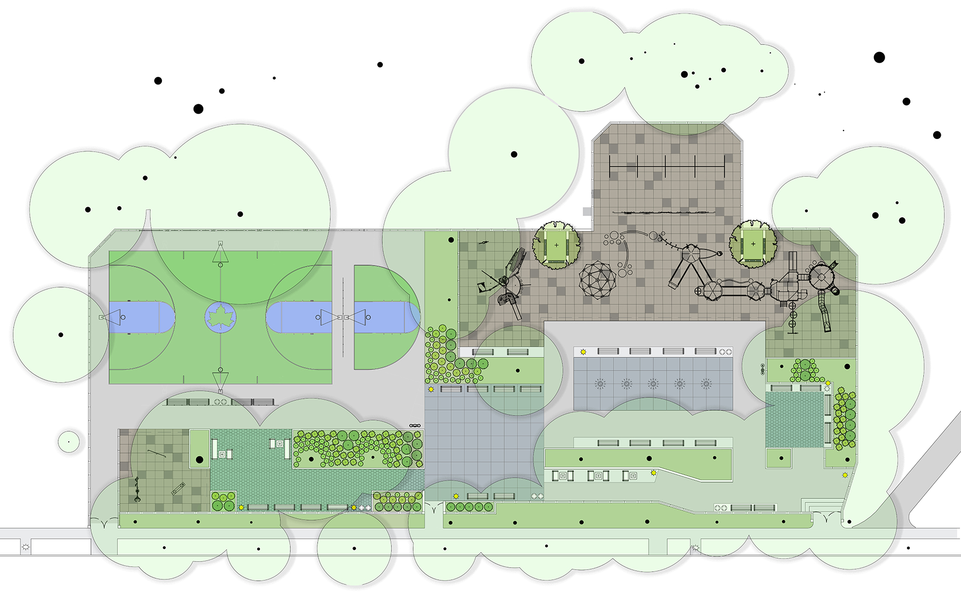 Design of Kossuth Playground Reconstruction