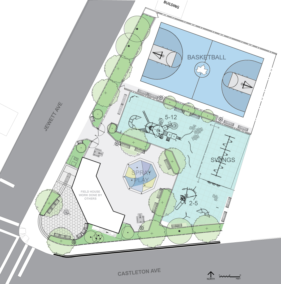 Design of Levy Playground Reconstruction