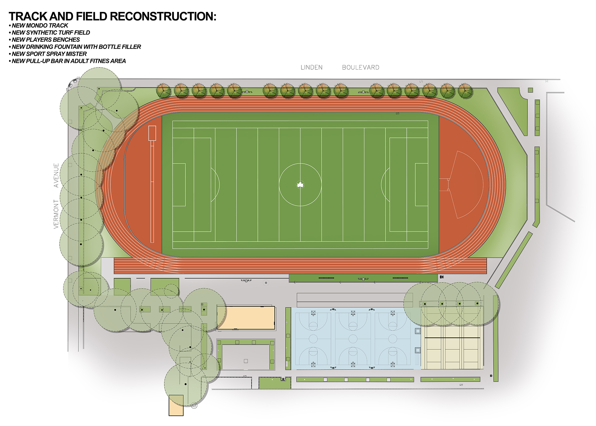 Design of Linden Park Synthetic Turf Field and Rubberized Track Reconstruction