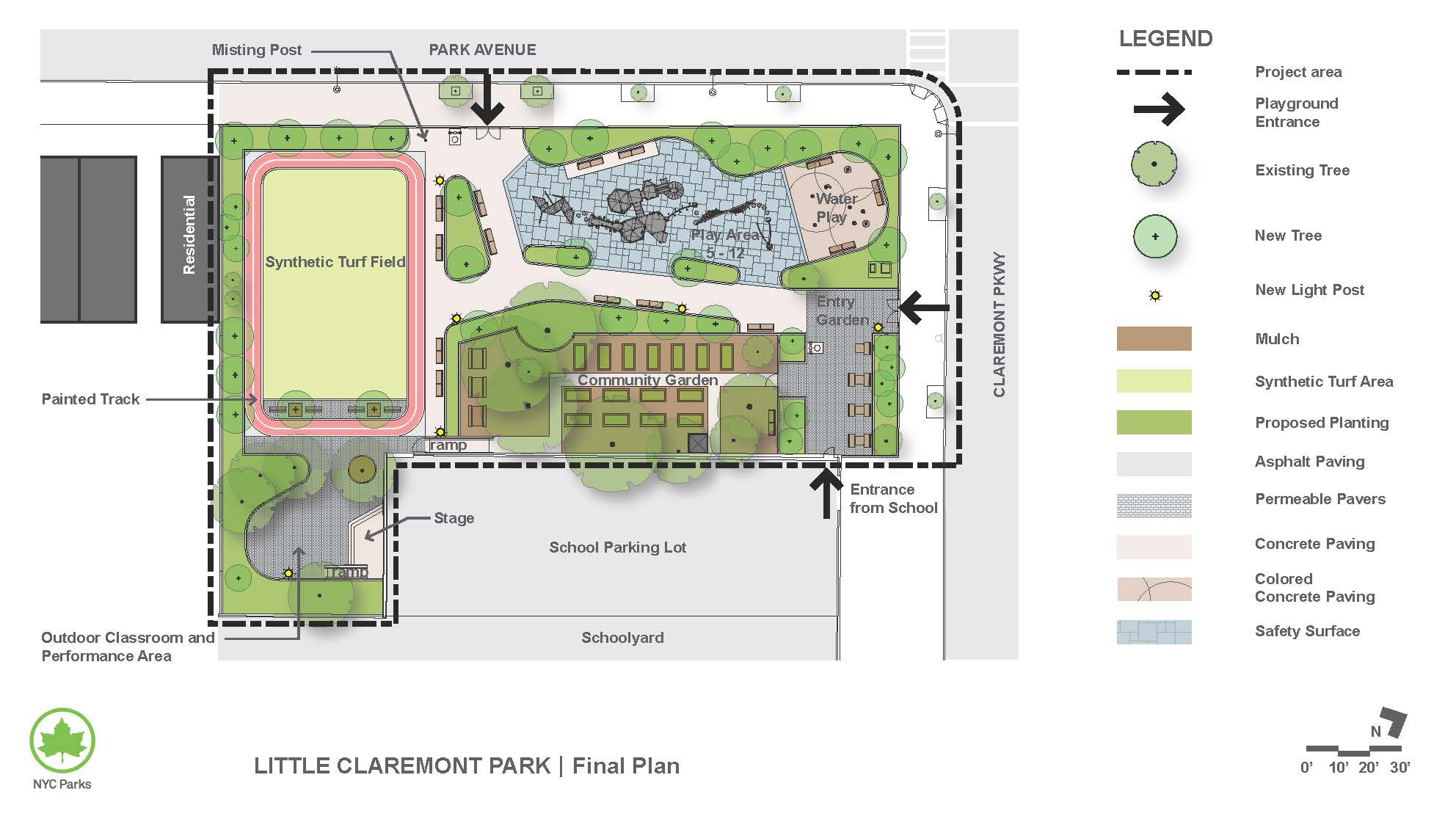 Design of Little Claremont Playground Reconstruction