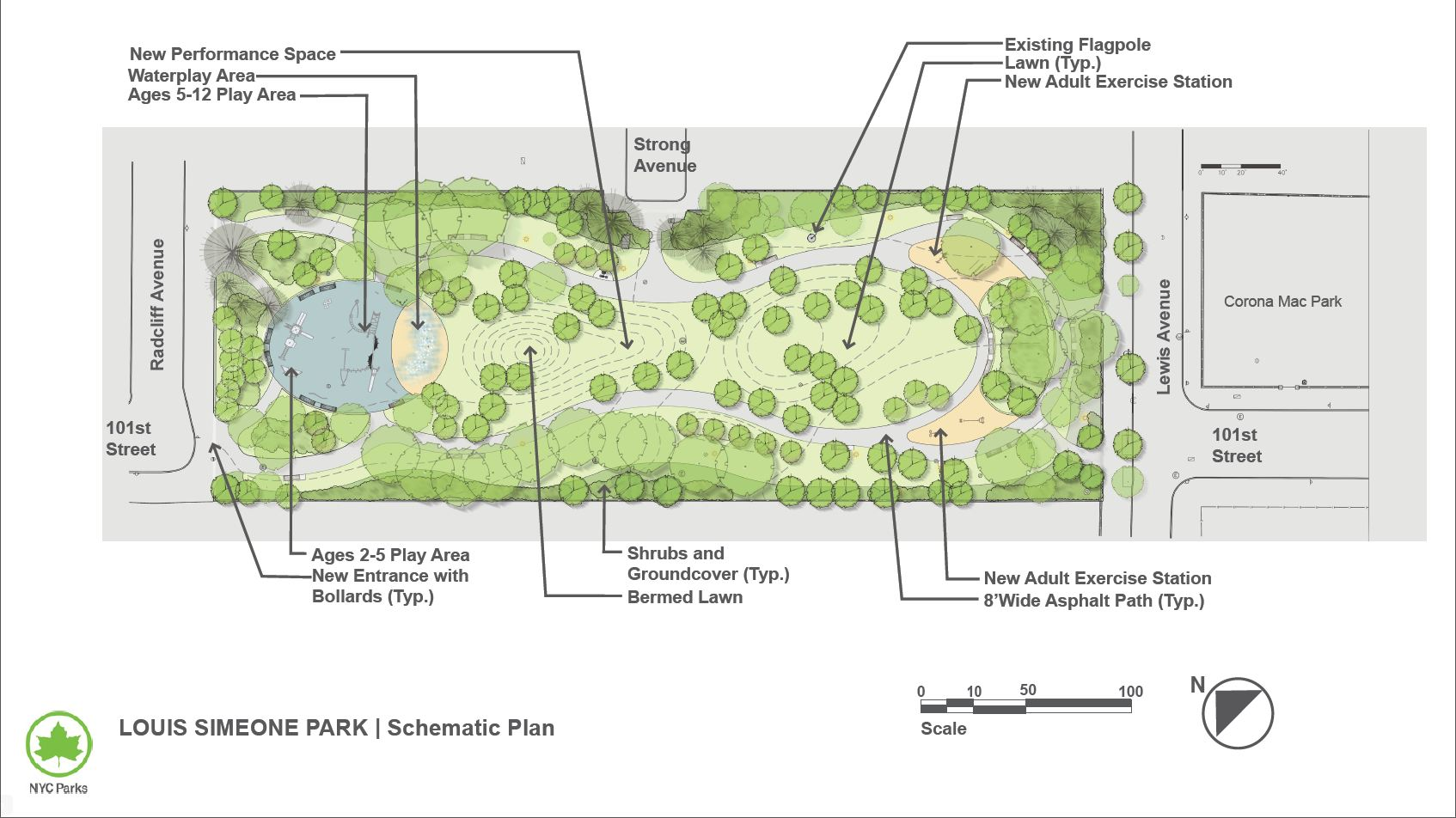 Design of Louis Simeone Park Reconstruction