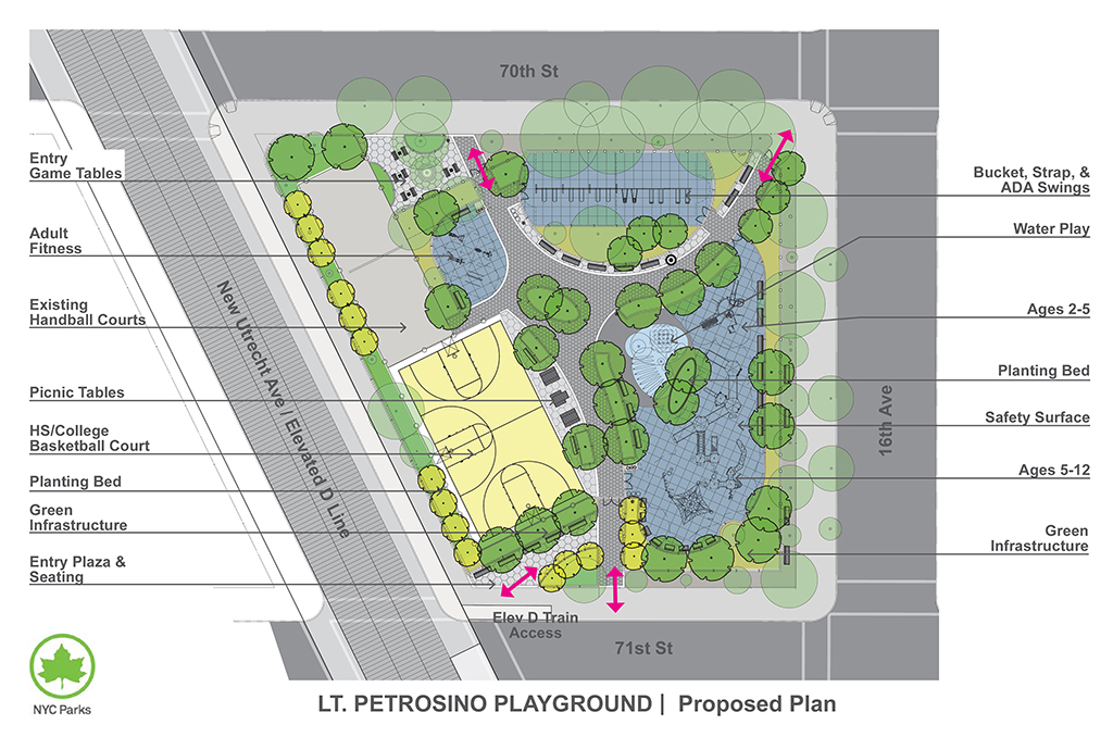 Design of Lt. Joseph Petrosino Park Reconstruction