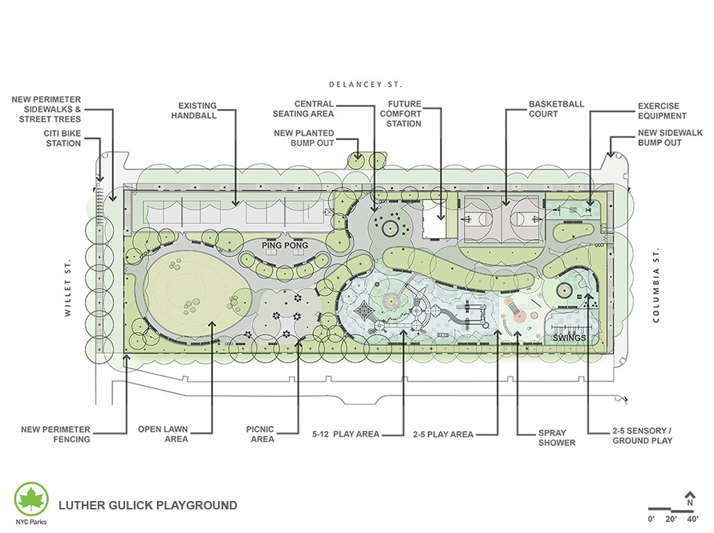 Design of Luther Gulick Playground Reconstruction