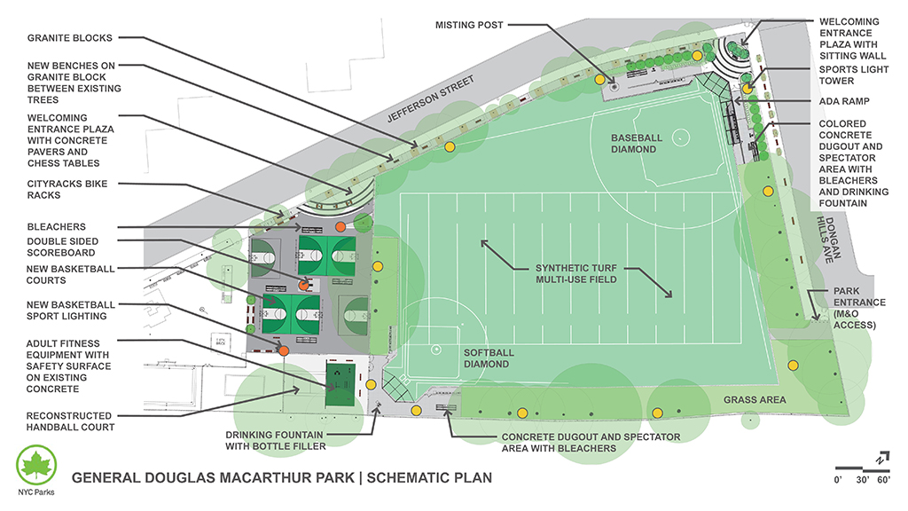 Design of MacArthur Park Multi-Purpose Ballfield and Basketball Court Reconstruction