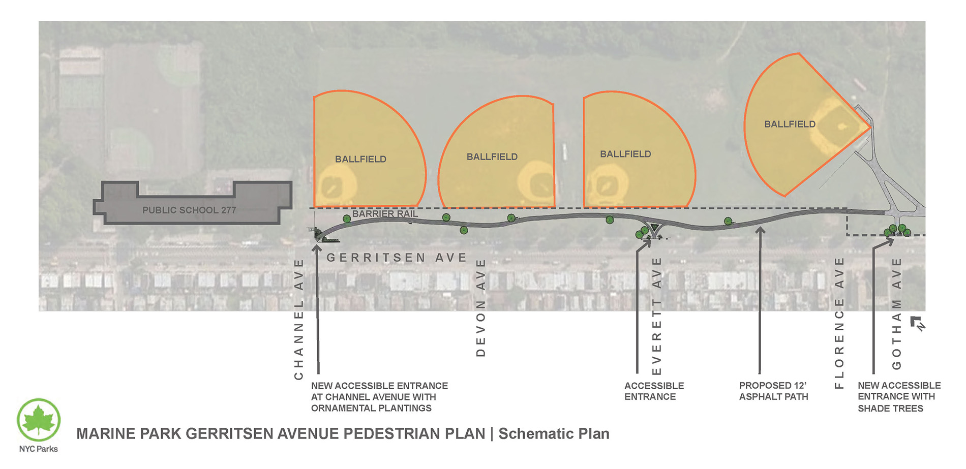 Design of Marine Park Gerritsen Avenue Pedestrian Path Construction Phase 2