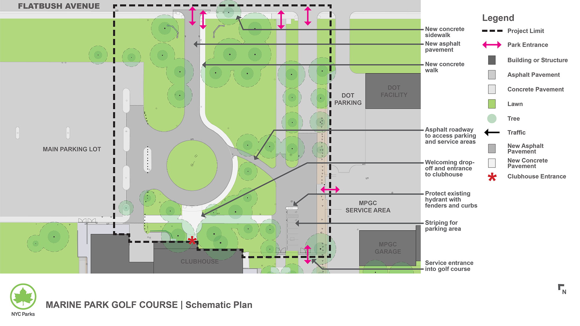 Design of Marine Park Golf Course Path Reconstruction