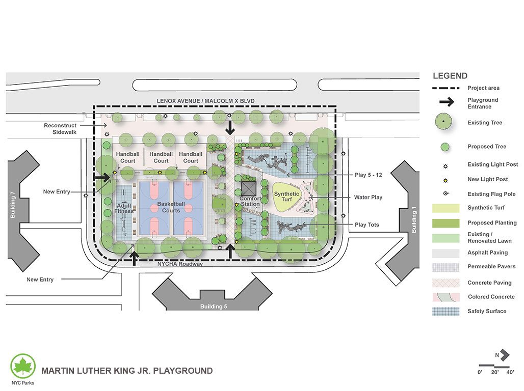 Design of Martin Luther King Jr. Playground Reconstruction