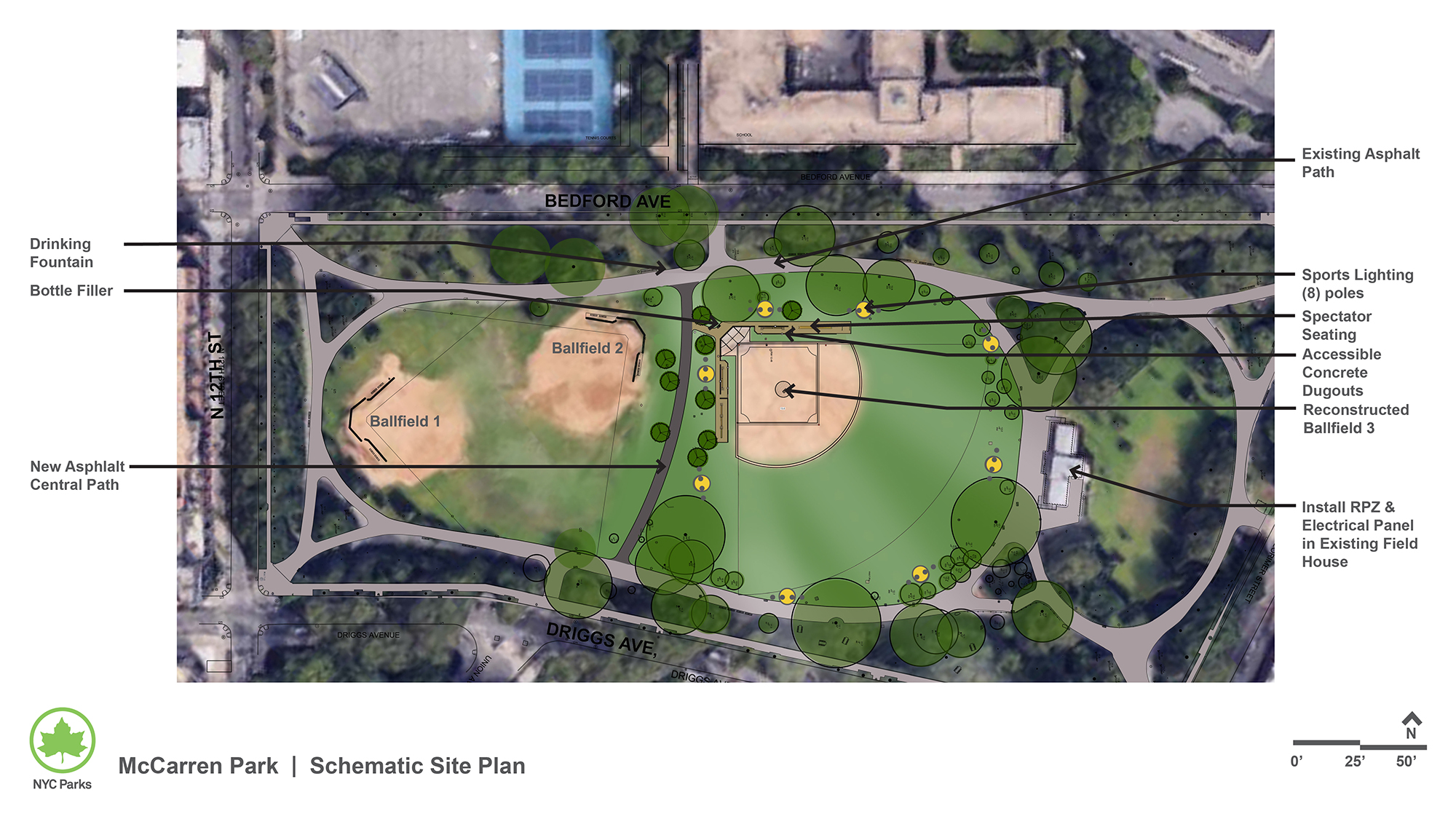 Design of McCarren Park Ballfield 3 Reconstruction