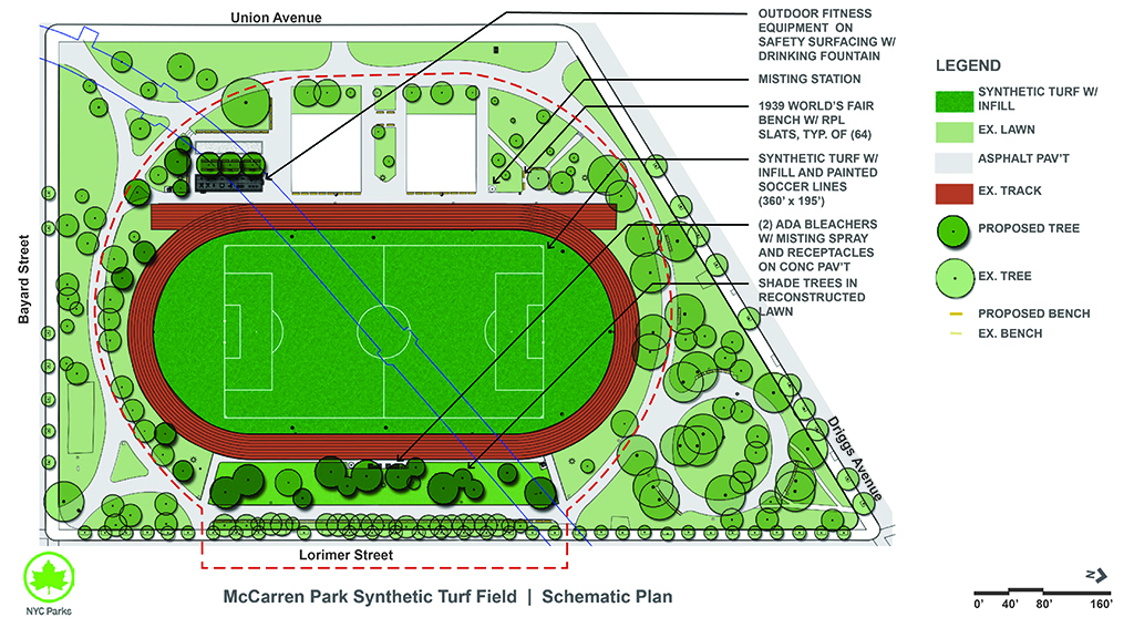 Design of McCarren Park Synthetic Turf Soccer Field Reconstruction
