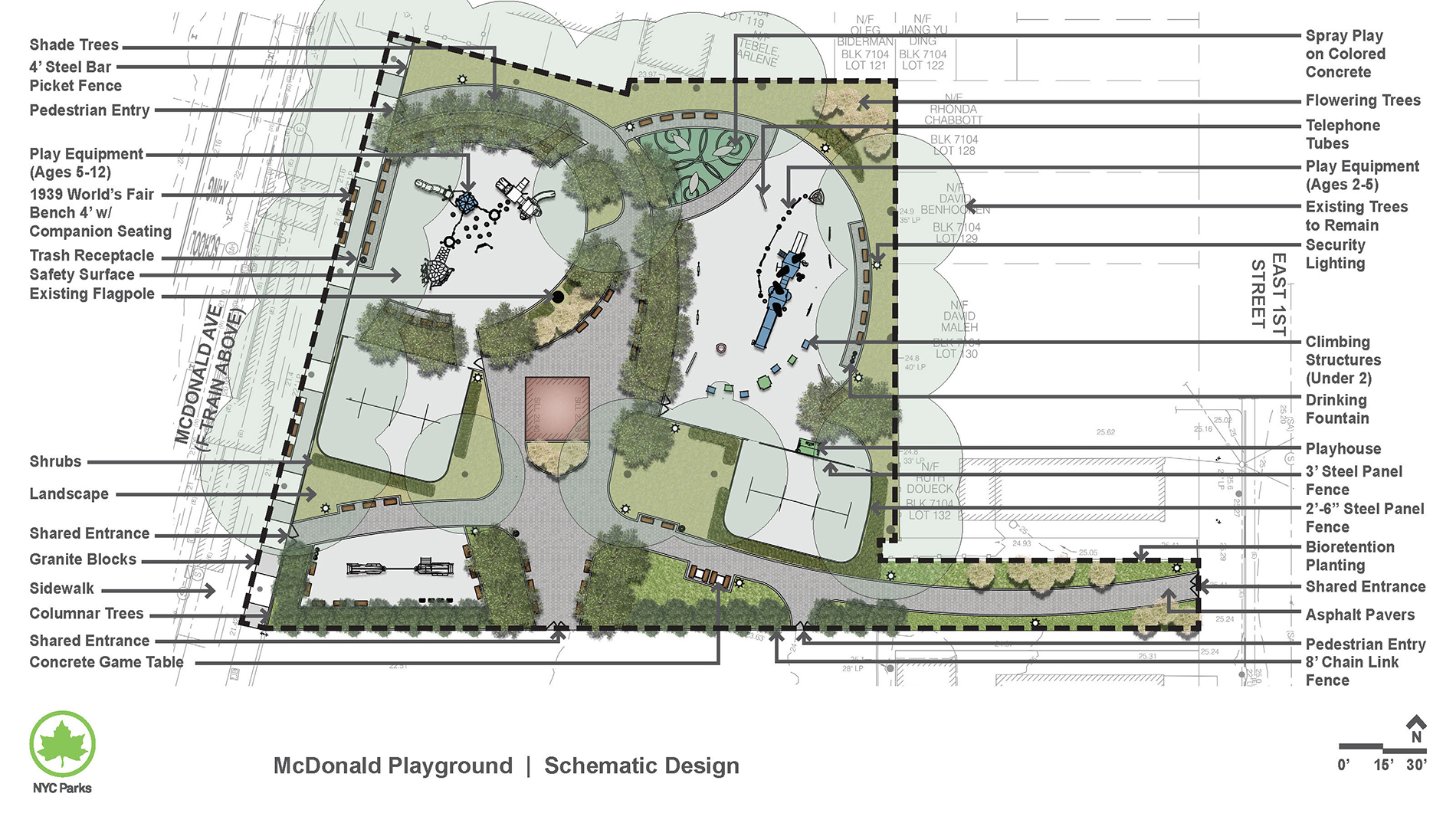 Design of McDonald Playground Reconstruction