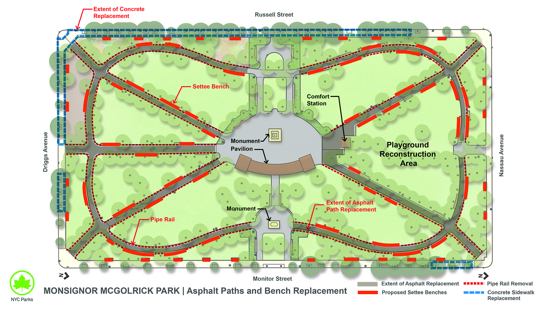 Design of McGolrick Park Path Reconstruction