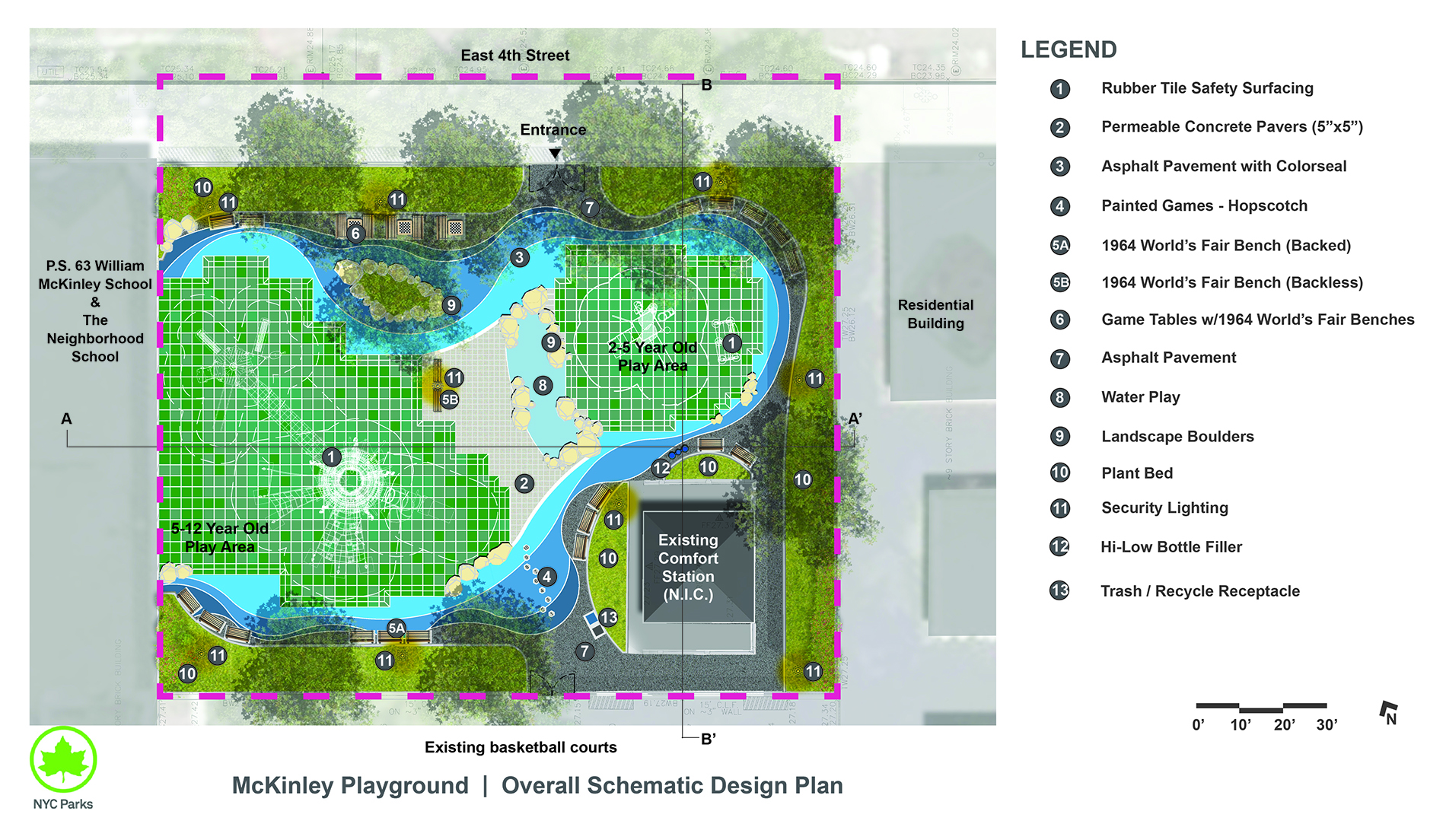 Design of McKinley Playground Play Area Reconstruction