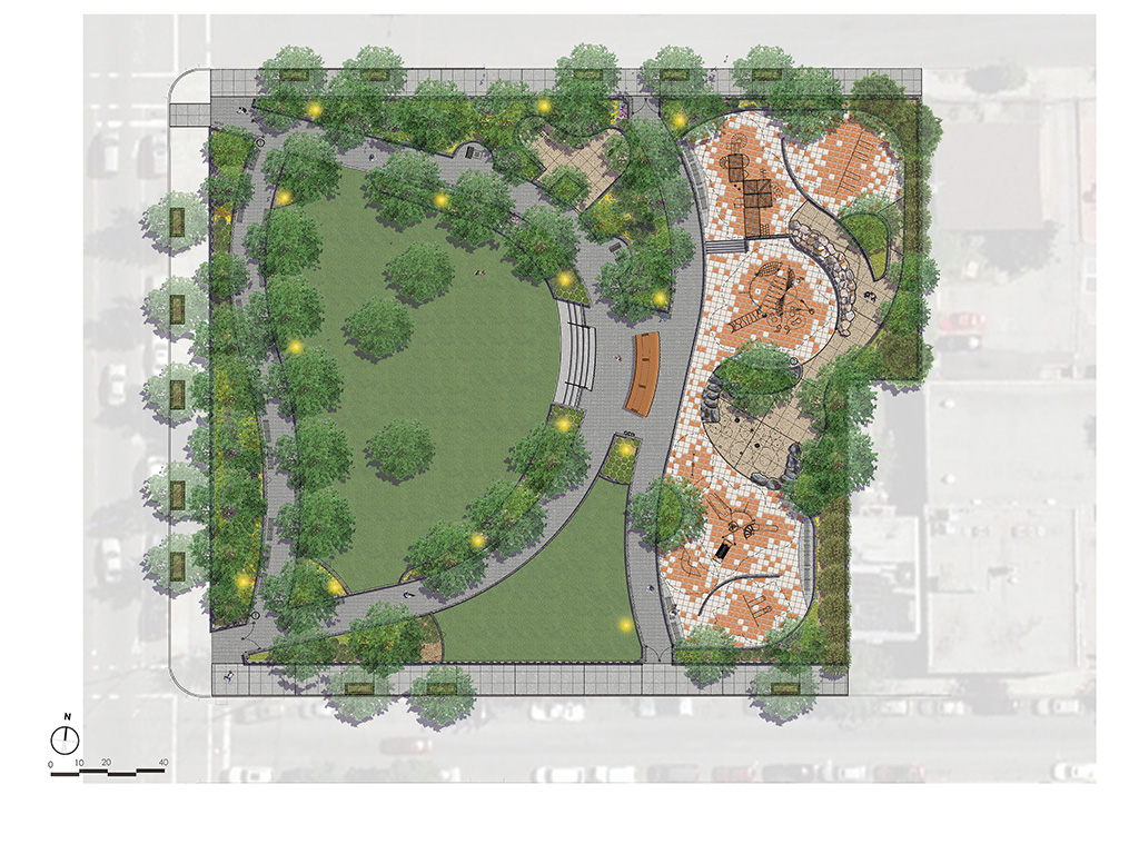 Design of Melrose Commons Park Construction