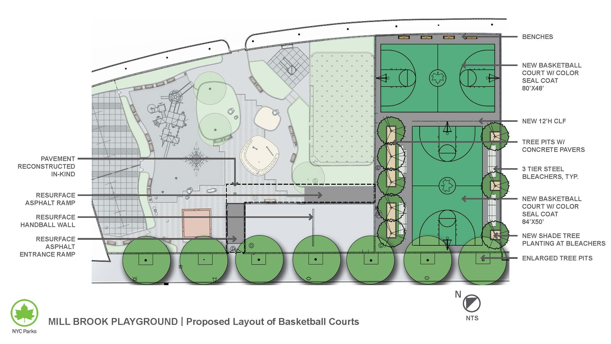 Design of Millbrook Playground Basketball and Handball Court Reconstruction
