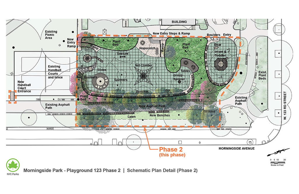 Design of Morningside Park 123rd Street Playground Reconstruction Phase II