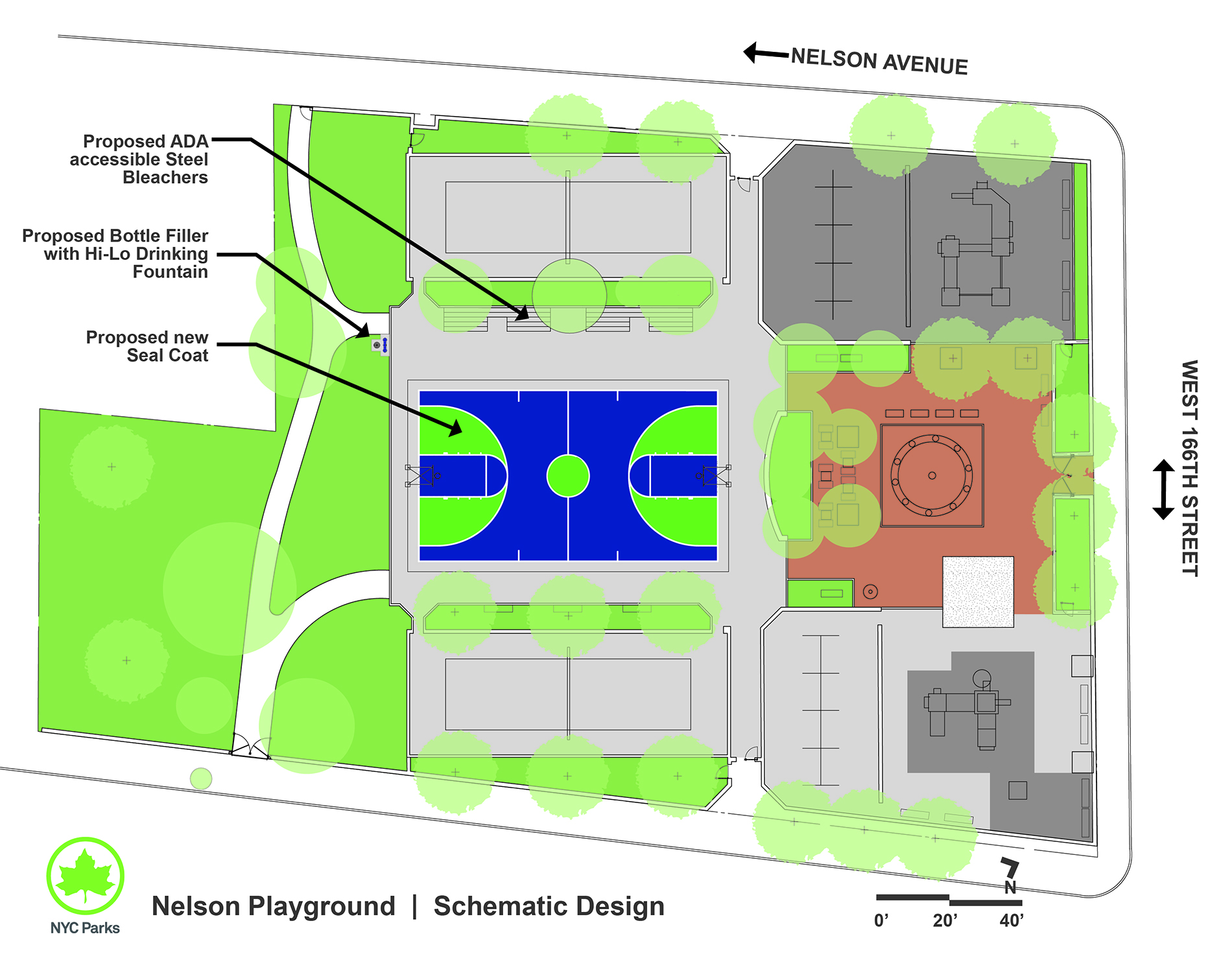 Design of Nelson Playground Bleachers Reconstruction