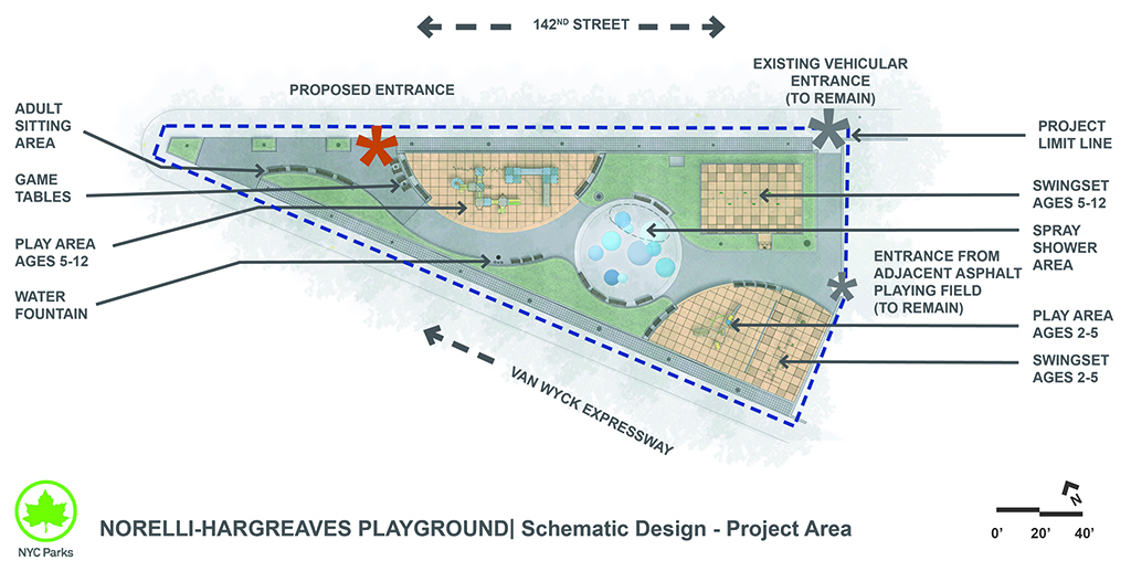 Design of Norelli Playground Reconstruction