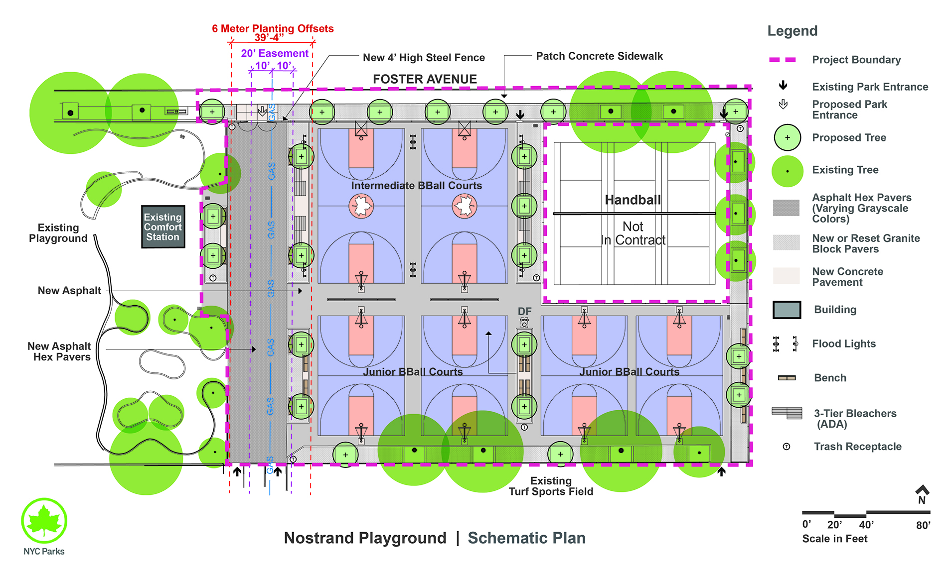 Design of Nostrand Playground Sport Courts Reconstruction