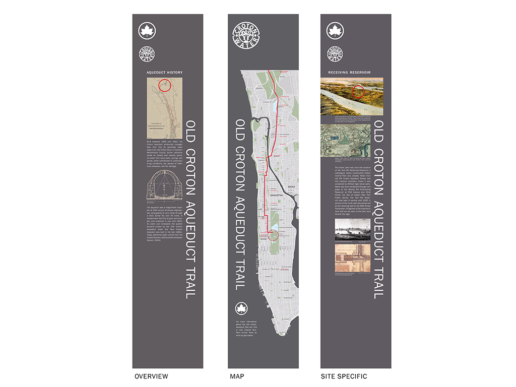 Design of Old Croton Aqueduct Signage Installation